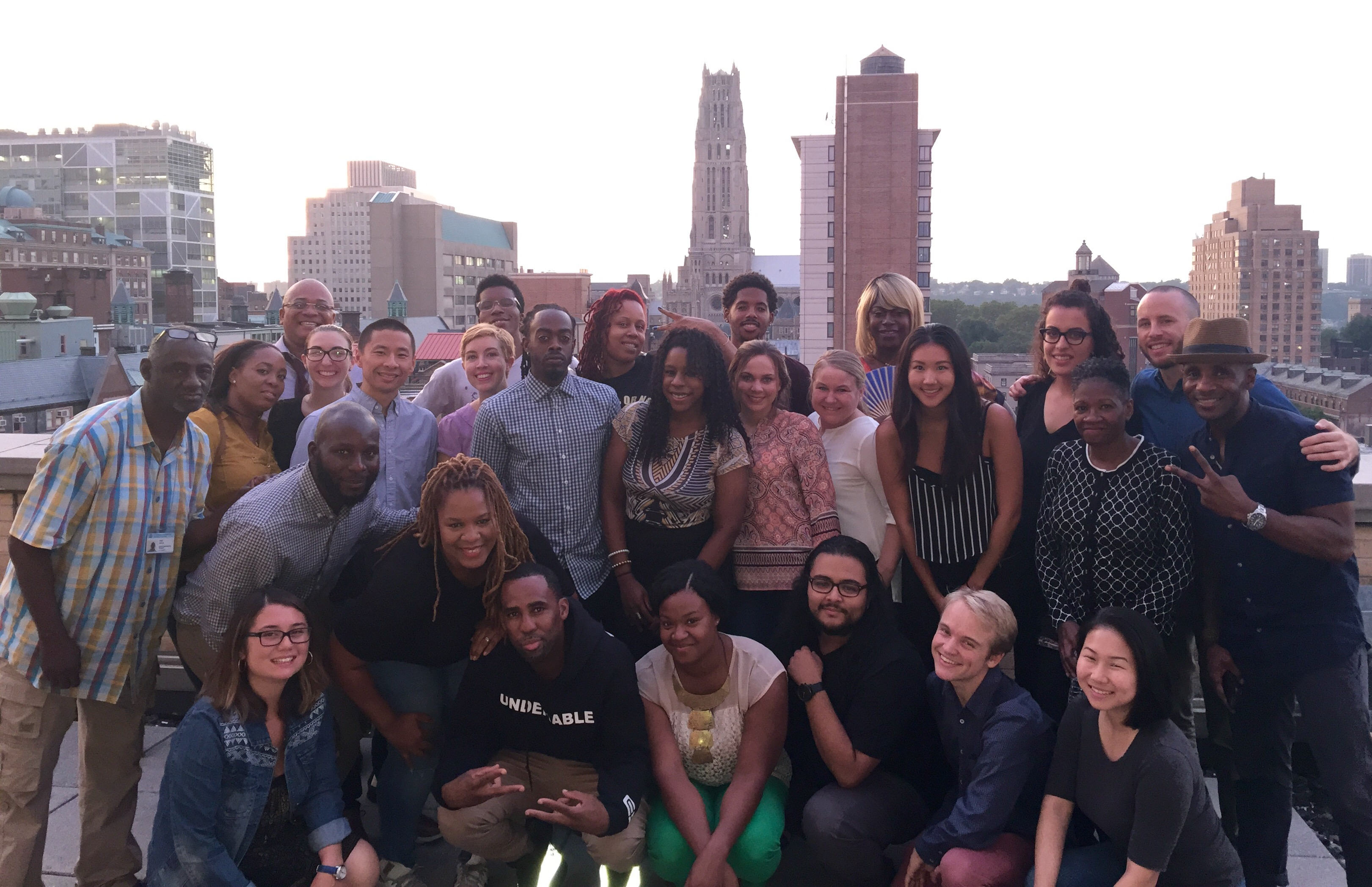 2016–17 Beyond the Bars Fellows from many schools across Columbia (Social Work, Teachers College, Columbia College, Arts, Public Health); other colleges (Rutgers, New York University, Borough of Manhattan Community College); and a variety of community and government organizations (Osborne Association, Vera Institute of Justice, Red Umbrella Project, Fortune Society, VIBE magazine, Center for Court Innovations)
