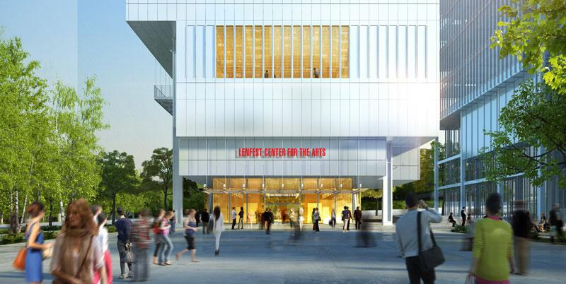 Lenfest Center for the Arts. Rendering by Renzo Piano Building Workshop (design architect) and Davis Brody Bond (executive architect). © Renzo Piano Building Workshop