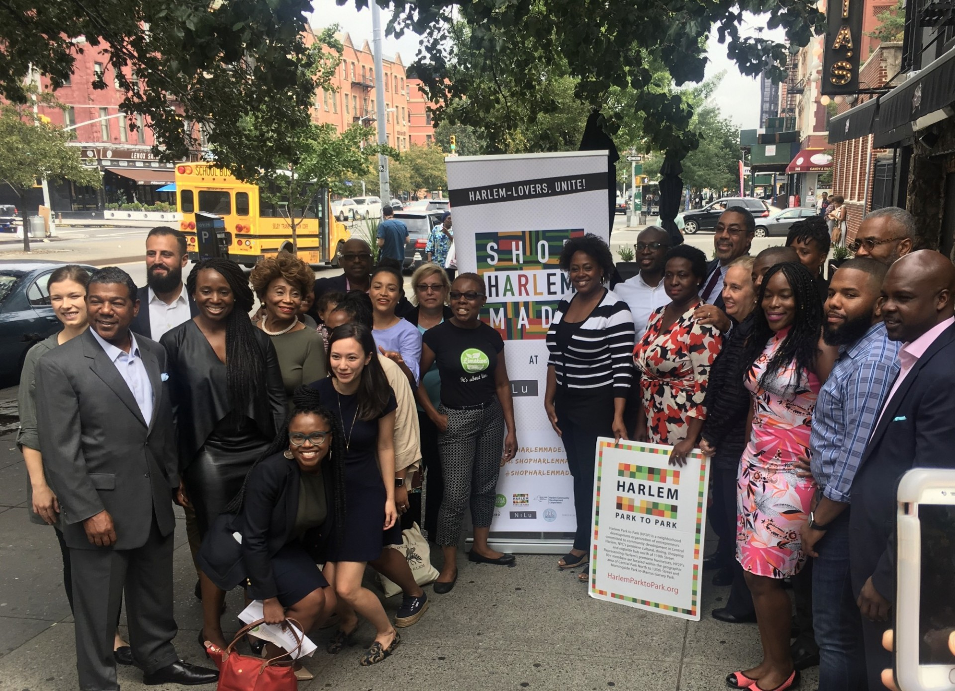 Harlem Park to Park and the office of Senator Brian Benjamin hosted a news conference to highlight the success of the inaugural Harlem Local Vendor Program with Whole Foods Market.