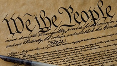 Image of the opening of the United States Constitution