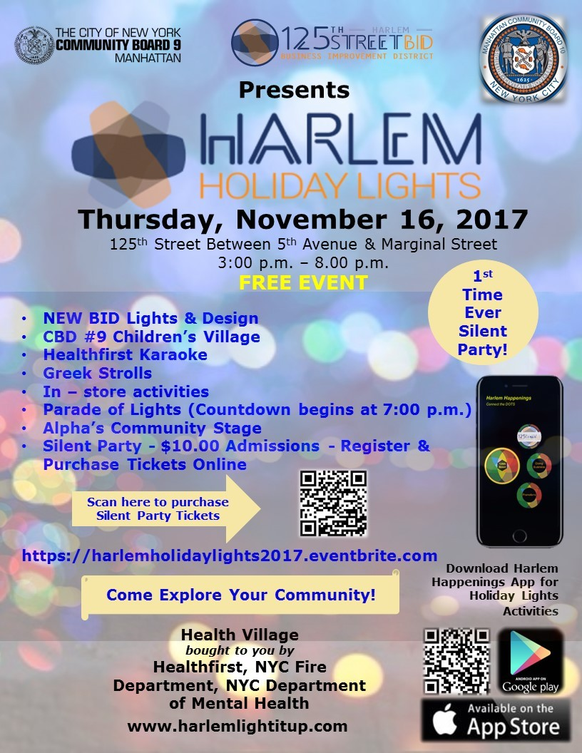 125th Street BID: Harlem Holiday Lights 2017 | Government