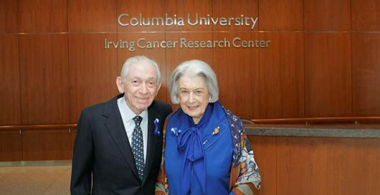 Florence Irving and the late Herbert Irving in 2005. Photo by Charles E. Manley